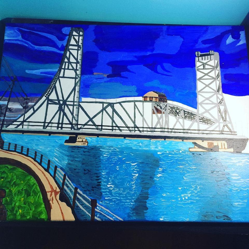 welland canal bridge painting